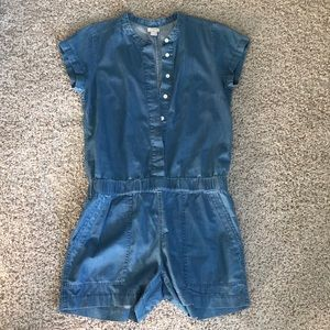 JCrew Factory Chambray Romper